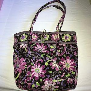 Purple Vera Bradley Tote Bag